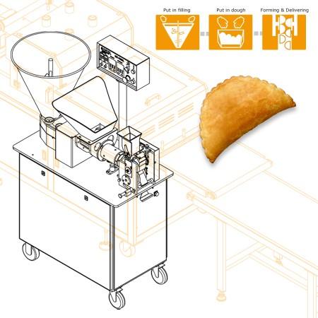 多功能包餡、成型機 -チュニジアの会社のための機械設計