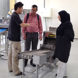 ANKO's food making equipment client and sales manager